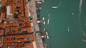 Lucht mening van Venetië Italië stock video