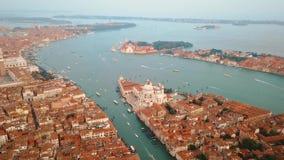 Lucht mening van Venetië Italië stock videobeelden