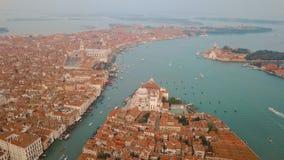 Lucht mening van Venetië Italië stock footage