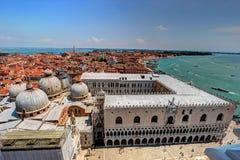 Lucht mening van Venetië, Italië Stock Afbeelding