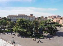 Lucht mening van Verona stock foto's