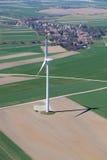 Lucht mening van windturbine Stock Afbeeldingen