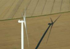 Lucht mening van windturbine Royalty-vrije Stock Afbeelding