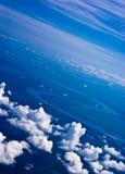 Lucht mening van wolken Royalty-vrije Stock Afbeeldingen