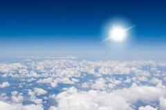 Lucht mening van wolken stock foto's