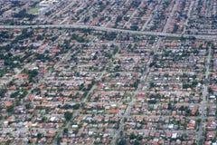 Lucht mening van woonhuizen in Texas stock afbeeldingen