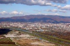 Lucht mening van Zagreb Stock Afbeeldingen