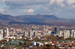 Lucht mening van Zagreb Royalty-vrije Stock Afbeeldingen