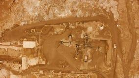 Lucht Mening vlucht over de oppervlakte van planeet Mars stock video