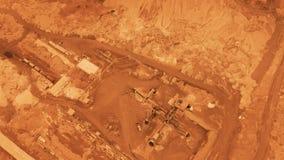 Lucht Mening vlucht over de oppervlakte van planeet Mars stock videobeelden