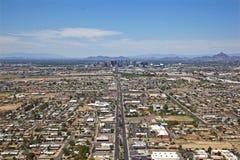Lucht menings omhoog Centrale Weg in Phoenix royalty-vrije stock afbeeldingen
