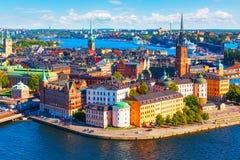 Lucht panorama van Stockholm, Zweden Stock Afbeeldingen