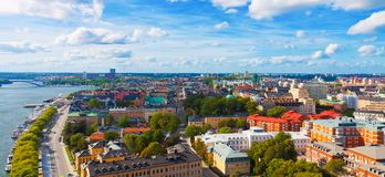 Lucht panorama van Stockholm, Zweden Stock Fotografie