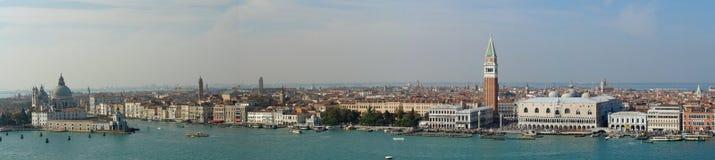 Lucht panorama van Venetië stock afbeelding