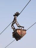 Lucht ropeway emmer Royalty-vrije Stock Foto