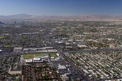 Lucht schot dat in Las Vegas wordt genomen stock fotografie