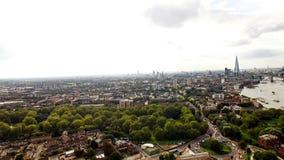 Lucht Stedelijke Cityscape van Londen rond Zuiden van de Stad royalty-vrije stock foto's