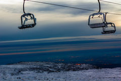 Lucht tramspoor in Bergketen Serra DA Estrela Stock Afbeelding