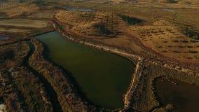 lucht Videografie die over Ria Formosa dichtbij Vila Real Sto Antonio schieten stock footage
