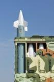 Luchtafweer defensiesysteem. De lanceerinrichting van de raket Royalty-vrije Stock Afbeelding