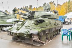 Luchtafweerraketsysteem zsu-23-4M4 shilka-M4 Royalty-vrije Stock Afbeeldingen