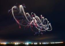 Luchtballet in de Nachthemel! stock fotografie