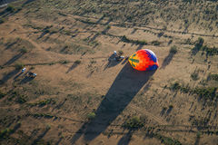 Luchtballon Opgeblazen Mening ter plaatse, Lucht Royalty-vrije Stock Fotografie