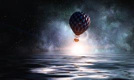 Luchtballon in overzees stock afbeelding