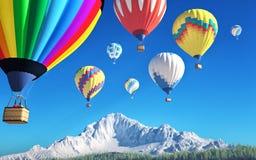 Luchtballons stock illustratie