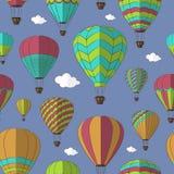 Luchtballons geplaatst patroon Royalty-vrije Stock Foto