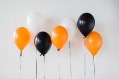 Luchtballons voor de partij van Halloween of van de verjaardag Stock Fotografie