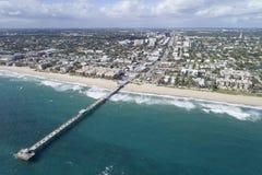 Luchtbeeld Lauderdale door het overzees Stock Foto's
