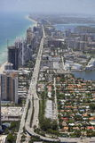 Luchtbeeld Sunny Isles Beach FL Royalty-vrije Stock Afbeelding