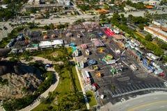 Luchtbeeld van de Broward-de jeugdmarkt van de Provincie in Hallandale FL Stock Afbeelding