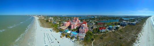 Luchtbeeld van Don CeSar St Pete Beach FL Stock Foto