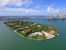 Luchtbeeld van het Strand van Miami van het Stereiland Royalty-vrije Stock Afbeelding