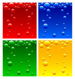 Luchtbellen in de vloeistof Stock Illustratie