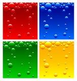 Luchtbellen in de vloeistof Royalty-vrije Stock Foto
