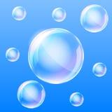 Luchtbellen in het water Stock Afbeelding