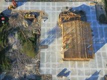 Luchtblokhuis commerciële bouwconstructie royalty-vrije stock afbeelding
