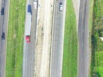 Luchtbouw van wegi10 viaduct 10 Tusen staten Stock Foto