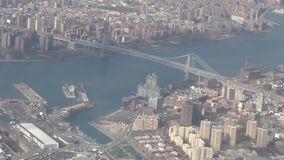 Luchtbrug in Queens stock footage