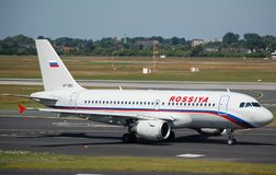 Luchtbus 319 van Rossiya Royalty-vrije Stock Foto's