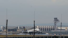 Luchtbus A380 het Opstijgen stock video