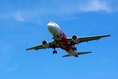 Luchtbus A320-216 (9m-AFL) Stock Foto's