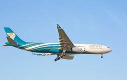 Luchtbus a-330 Oman Air Royalty-vrije Stock Afbeeldingen