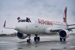 Luchtbus A320 van Air Arabia royalty-vrije stock fotografie