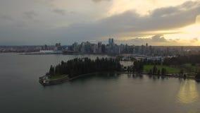 Luchtcanada Vancouver BC stock videobeelden