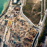 Luchtcityscape mening met bouwconstructie Hon Kong Royalty-vrije Stock Afbeelding