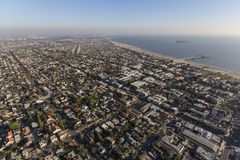 Luchtcityscape van Long Beach Californië Royalty-vrije Stock Fotografie